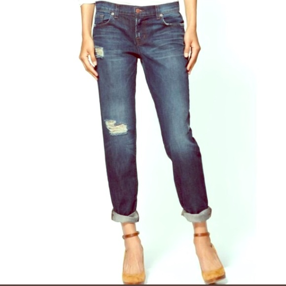 aiden distressed frayed hem skinny jean womens